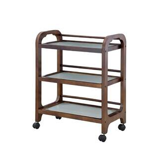 Dark Brown Wooden Trolley