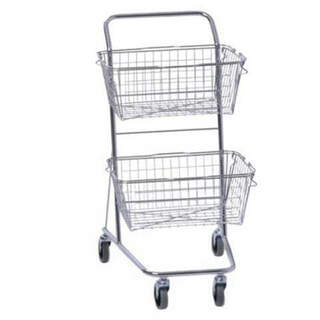 Shopping cart Laboratory trolley with 2 baskets