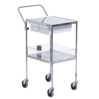 Circular trolley 76x40x98 cm, discs 60x40 cm with 9.5 high plastic edge
