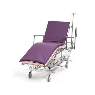 Patient and emergency carriage 3-part, hydraulic, steering handle