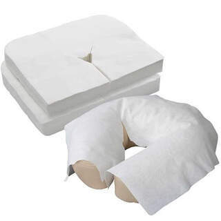 1000x White Round Beauty Massage Table Bed Face Rest Covers