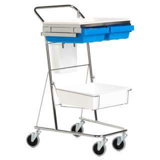Sampling trolley with accessory rails