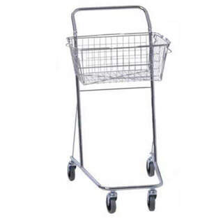 Shopping cart laboratory trolley with 1 basket